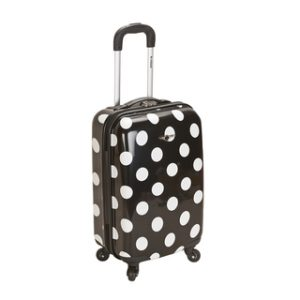 carry on bag with polka dots
